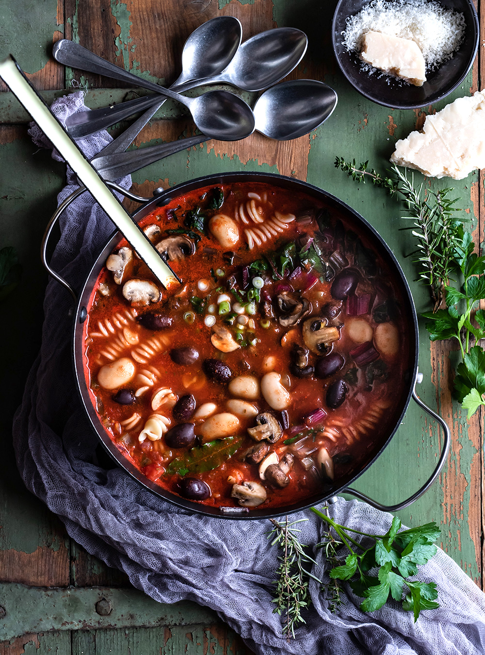 Gemüseeintopf - vegetarisches Feierabend Soulfood Rezept -