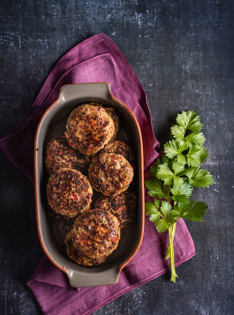 Die saftigsten Lamm Frikadellen orientalisch gewürzt mit viel Gemüse