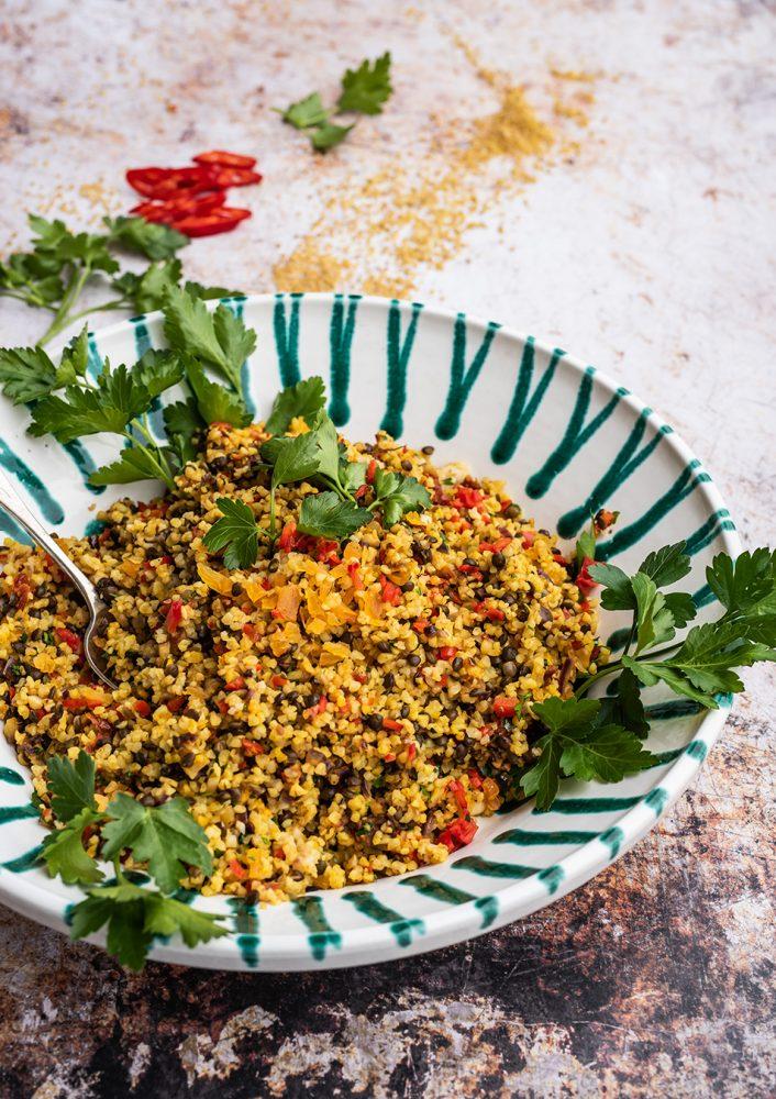 Fantastisches Bulgur Rezept als warme Beilage oder Bulgur Salat