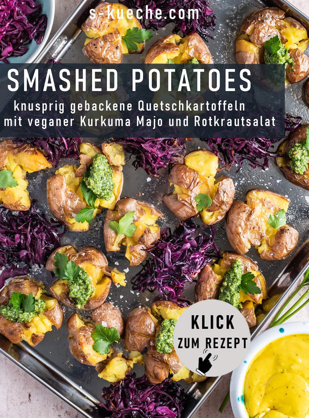 Smashed Potatoes - knusprig gebackene Quetschkartoffeln