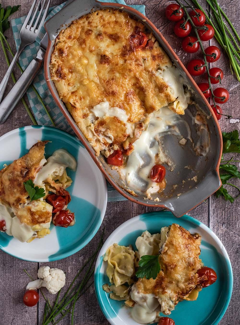 Tortellini Auflauf - Homeoffice Soulfood für die ganze Familie