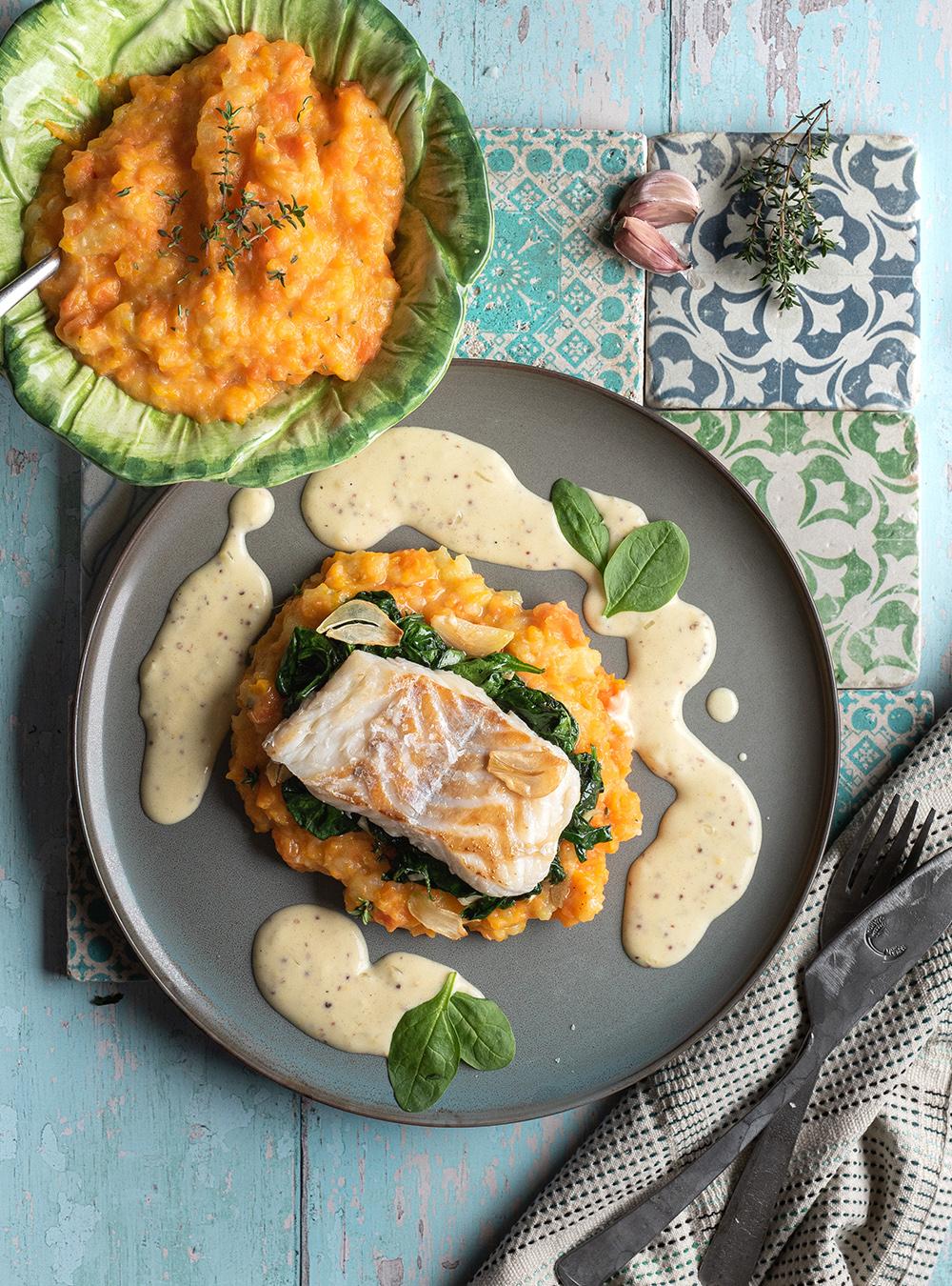 Kabeljau mit Senfsauce - der leichte Klassiker: Fisch und Senfsoße