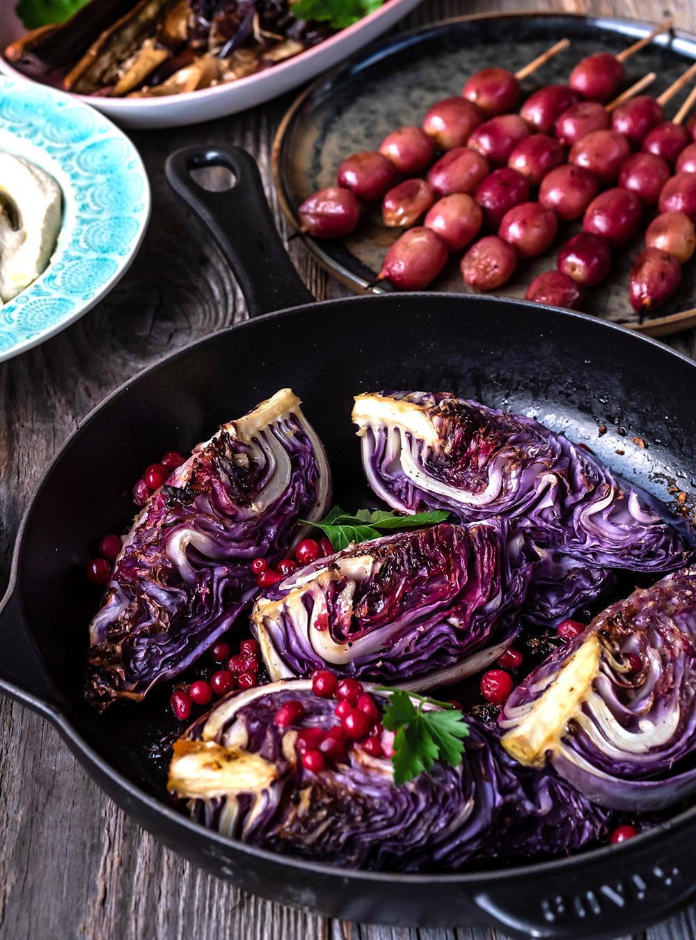 Orientalisches Gemüse nach Ottolenghi vom Traeger Pelletgrill