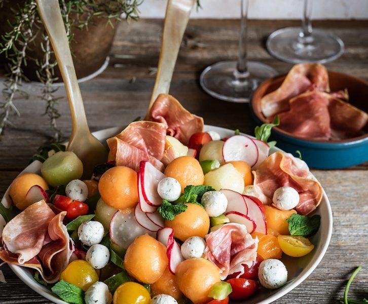 Spanischer Salat mit Melone