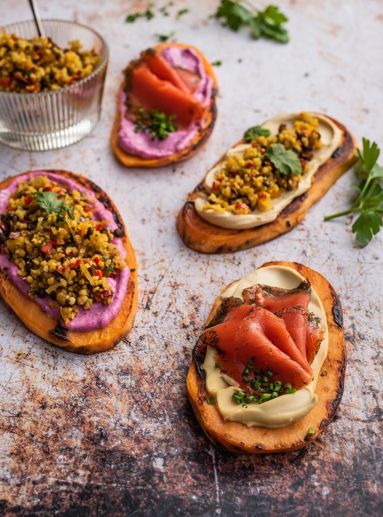 Süßkartoffel Toast - der gesunde Low Carb Snack