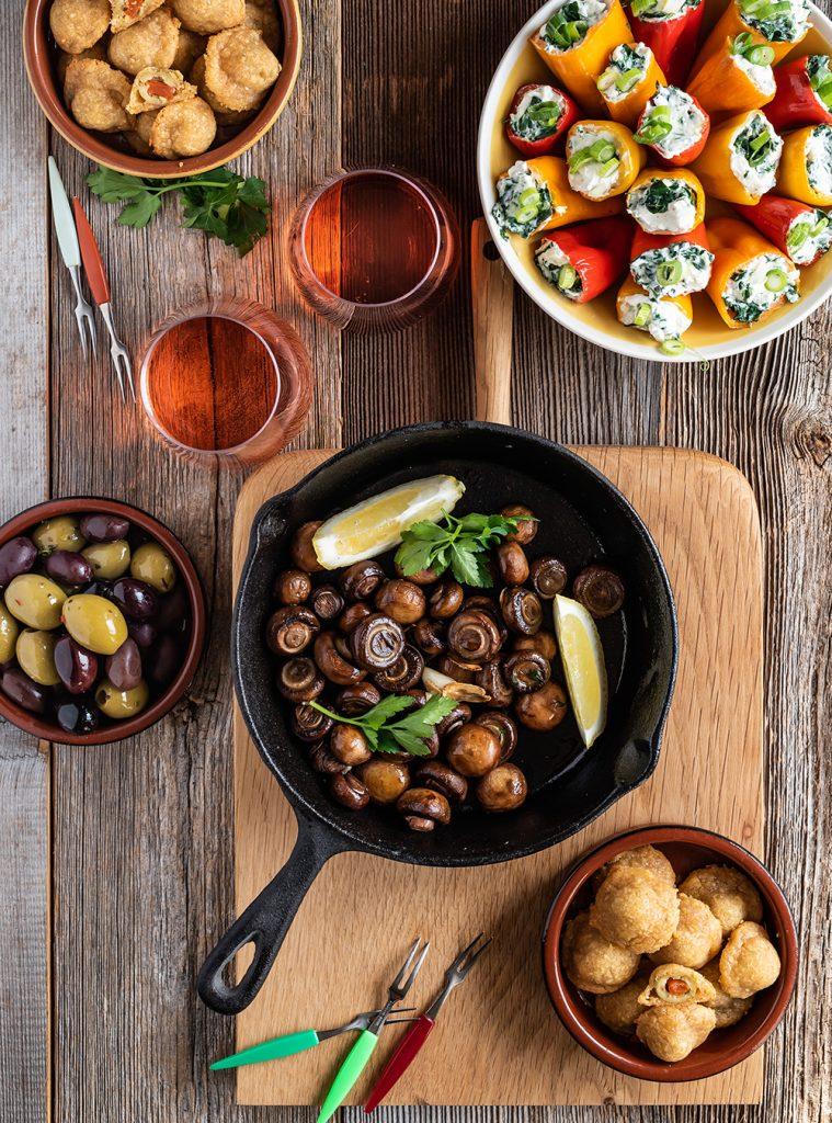 Vegetarische Tapas aus Spanien