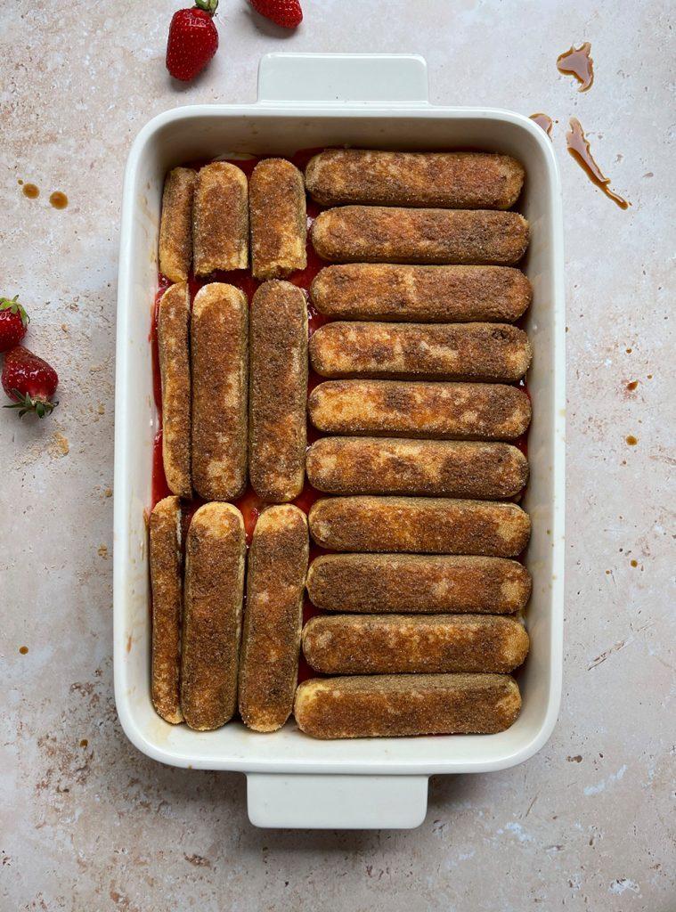 Erdbeer Tiramisu Zubereitung