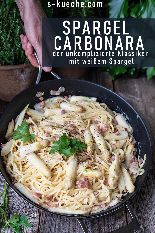 Spargel Carbonara - der unkomplizierte italienische Klassiker mit sanft in der Pfanne gegartem Spargel ist ein fantastisches Frühlingsgericht