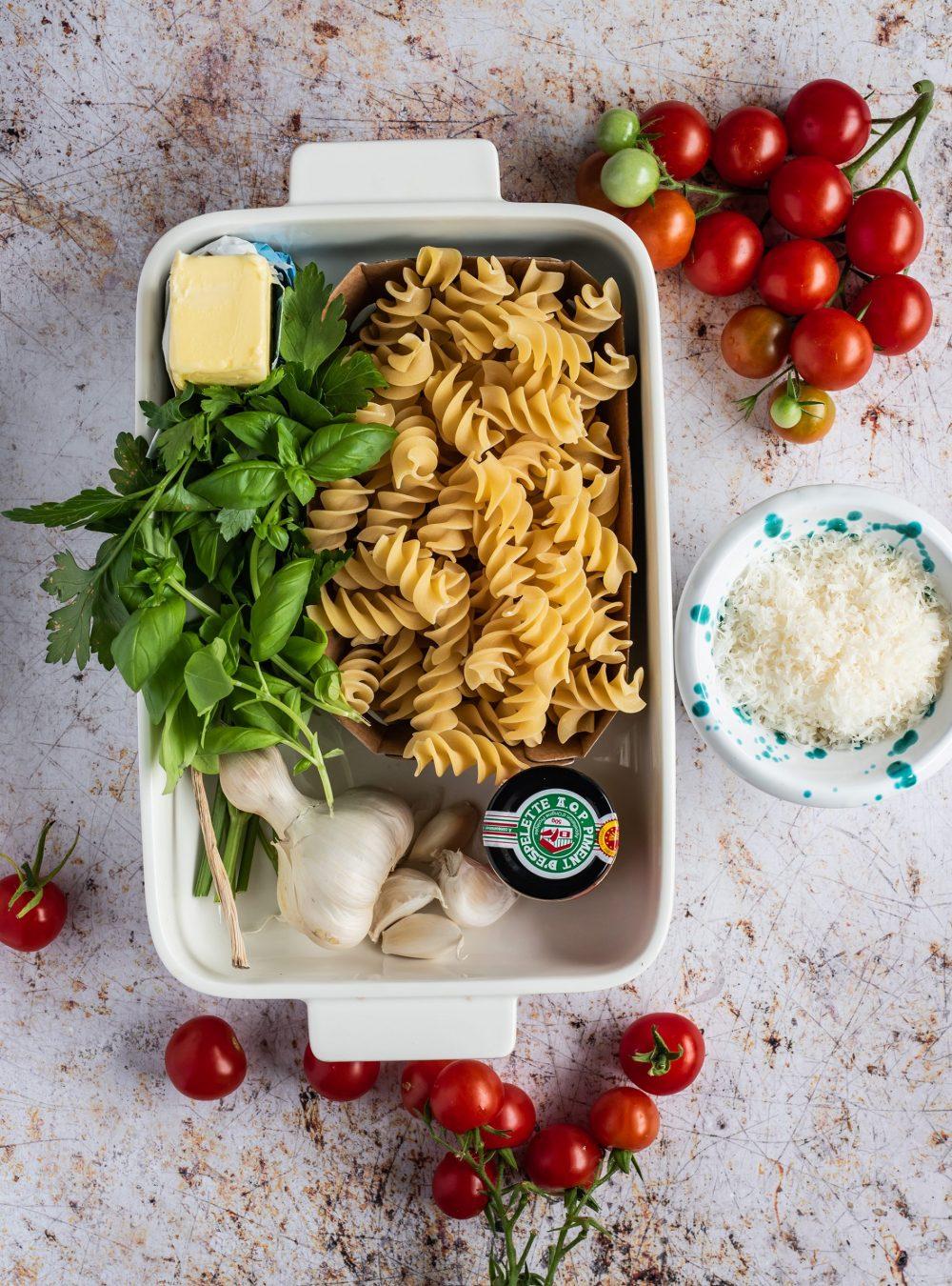 One Pan Tomaten Butter Pasta von Ottolenghi