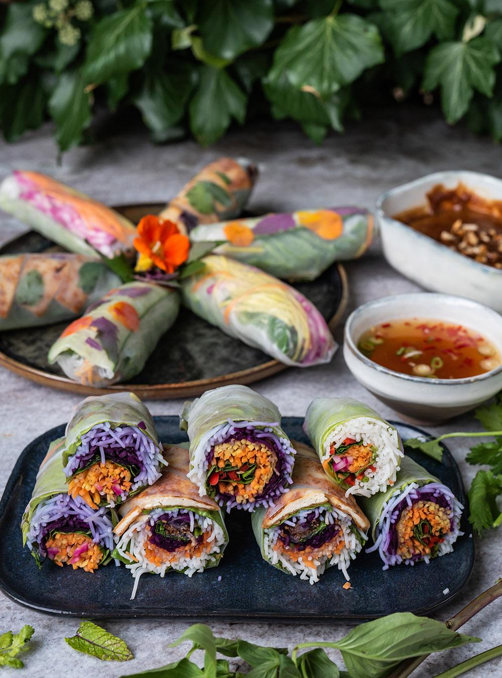 Vietnamesische Sommerrollen - Wunderschöne Summer Rolls mit zwei Dips
