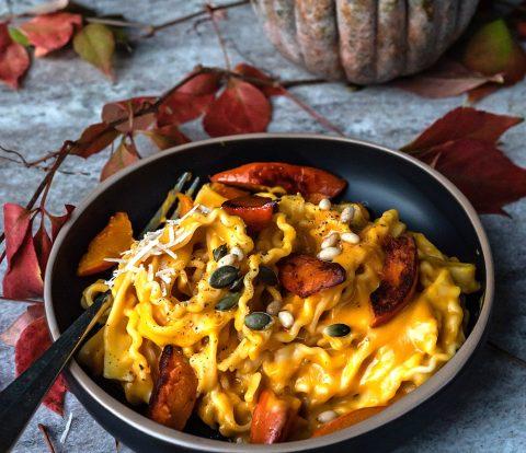 Cremige Kürbis Pasta - ganz schnell und einfach | Rezept